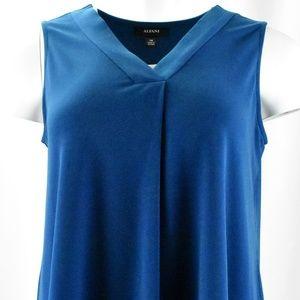 !!~ Blue Teal Sleeveless V-Neck Blouse ~!!